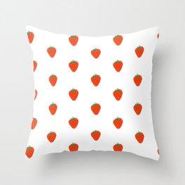 Strawberry cute illustration Throw Pillow