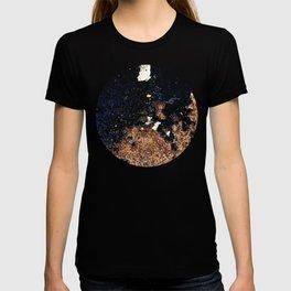 Alien Continents ruined wall texture grunge T-shirt