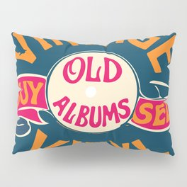 Vintage Vinyl, Old Album Pillow Sham