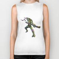 ninja turtles Biker Tanks featuring Ninja Turtles: Donatello  by Michele Giorgi