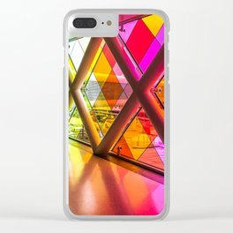 Walking in color Clear iPhone Case
