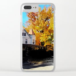Fall in New Jersey Clear iPhone Case