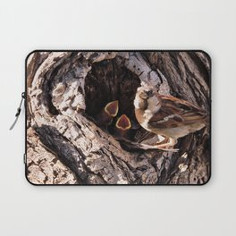 House Sparrow Keeping House Laptop Sleeve
