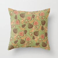 fig Throw Pillows featuring Fig by Meredith Miotke