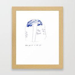 When you see a cute girl Framed Art Print