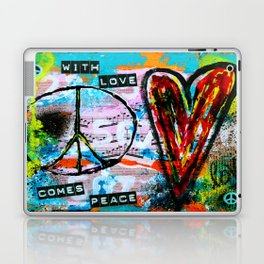 With Love, Comes Peace Laptop & iPad Skin