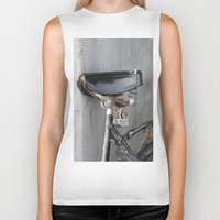 copenhagen Biker Tanks featuring Rusty bike Copenhagen by RMK Photography