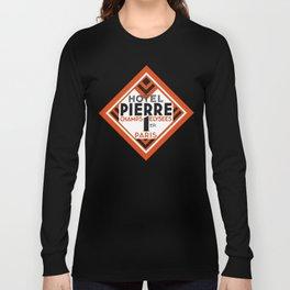 Hotel Pierre Paris Art Deco Long Sleeve T-shirt