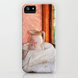 Good morning- vintage pitcher and wash bowl iPhone Case