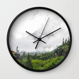 White Pass Summit Mountains Wall Clock