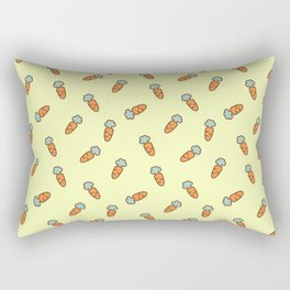 Carrot whimsical pattern Rectangular Pillow
