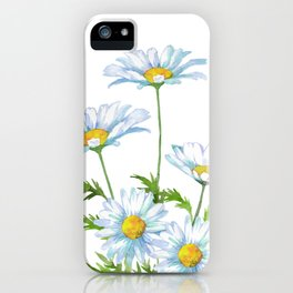Watercolor Daisy Flower iPhone Case