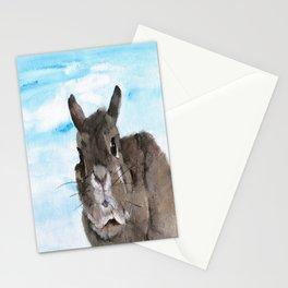 Peanut the Netherland dwarf rabbit, Easter, Nursery Stationery Cards