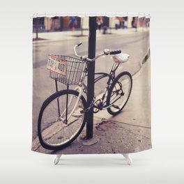 Bicycles of New York City Shower Curtain