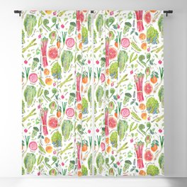 Spring Harvest Pattern Annotated Blackout Curtain