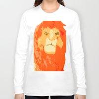 simba Long Sleeve T-shirts featuring Simba by Makayla Wilkerson