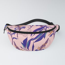 Navy pink botany Fanny Pack