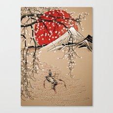 Japan Fishermen Canvas Print