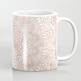 Mandala - rose gold and white marble 3 Coffee Mug