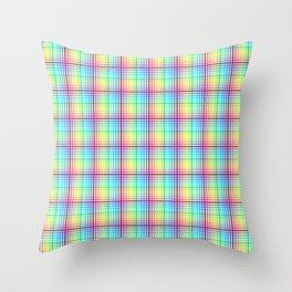 rainbow chess Throw Pillow