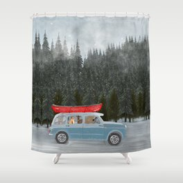 winter holiday Shower Curtain