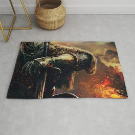 The fire king Rug