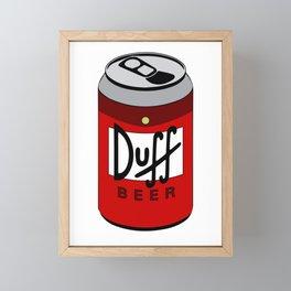 Duff Beer Can Framed Mini Art Print