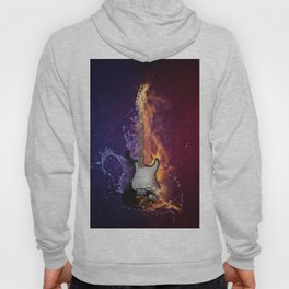 Cool Music Guitar Fire Water Artistic Hoody