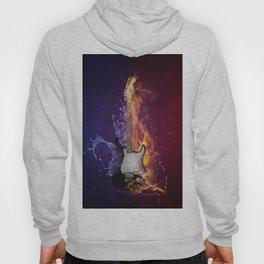 Cool Music Guitar Fire Water Artistic Hoody