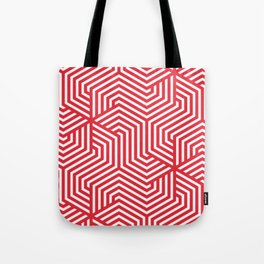 Rose madder - red - Minimal Vector Seamless Pattern Tote Bag