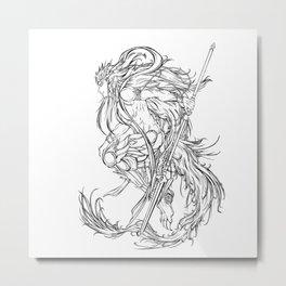 Muu Alexius Djinn Equip Barbatos 1 Metal Print
