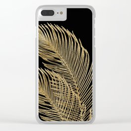 Palm Leaves Finesse Line Art with Gold Foil #1 #minimal #decor #art #society6 Clear iPhone Case