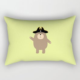 Grizzly Pirate Bear T-Shirt for all Ages D7cvs Rectangular Pillow