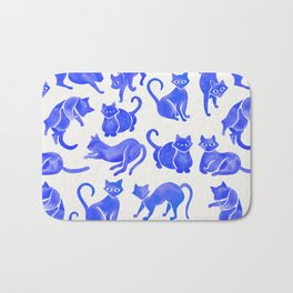 Cat Positions – Blue Palette Bath Mat