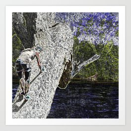 Climbing to Nirvana Art Print