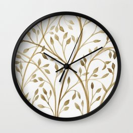 Mocha Branches Wall Clock