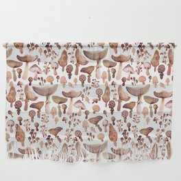 Watercolor Mushrooms Wall Hanging