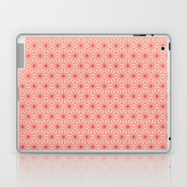 Red Japanese Hemp Kimono Pattern Laptop & iPad Skin