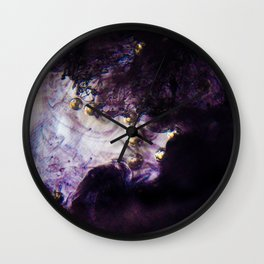 Rad space balls and other clouds of matter Wall Clock