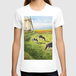 Cows Farm and Windmill T-shirt