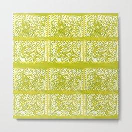 Leaves in Lime Metal Print