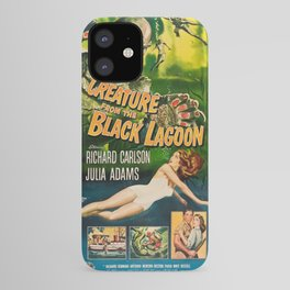 Creature from the Black Lagoon, vintage horror movie poster iPhone Case