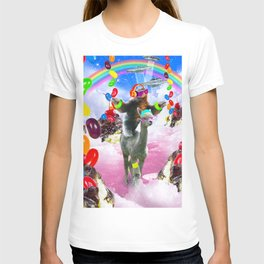 Sloth Riding Alpaca With Sundae And Jelly Beans T-shirt