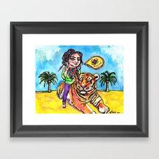 Charmed Tiger Framed Art Print