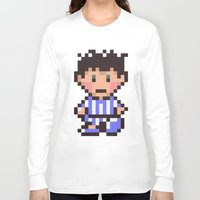 earthbound Long Sleeve T-shirts featuring Ness (Pajamas) - Earthbound / Mother 2 by Studio Momo╰༼ ಠ益ಠ ༽