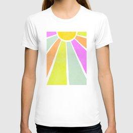 Bright Sunshine Rainbow #positiveart T-shirt