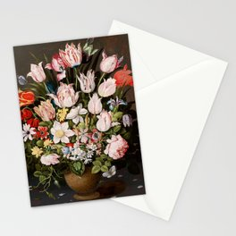 """Osias Beert """"A Bouquet of Flowers in a Vase"""" Stationery Cards"""