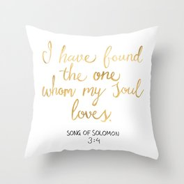 Song of Solomon 3:4 - Customer Request Throw Pillow