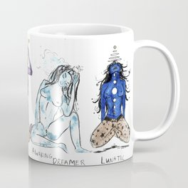 Her Moods - Watercolor Chart of the Emotions of the Female Mind Coffee Mug