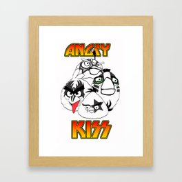 Angry Kiss Framed Art Print